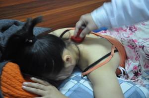 Moxa Massage technique on Neck Pain
